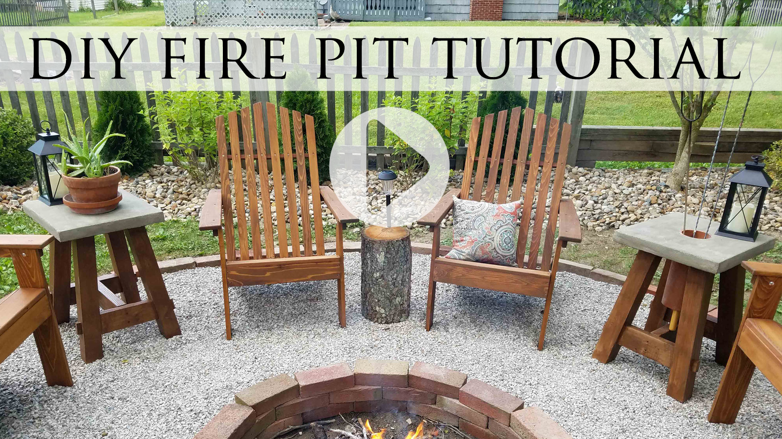Video Tutorial DIY Fire Pit by Larissa & Family of Prodigal Pieces | prodigalpieces.com #prodigalpieces