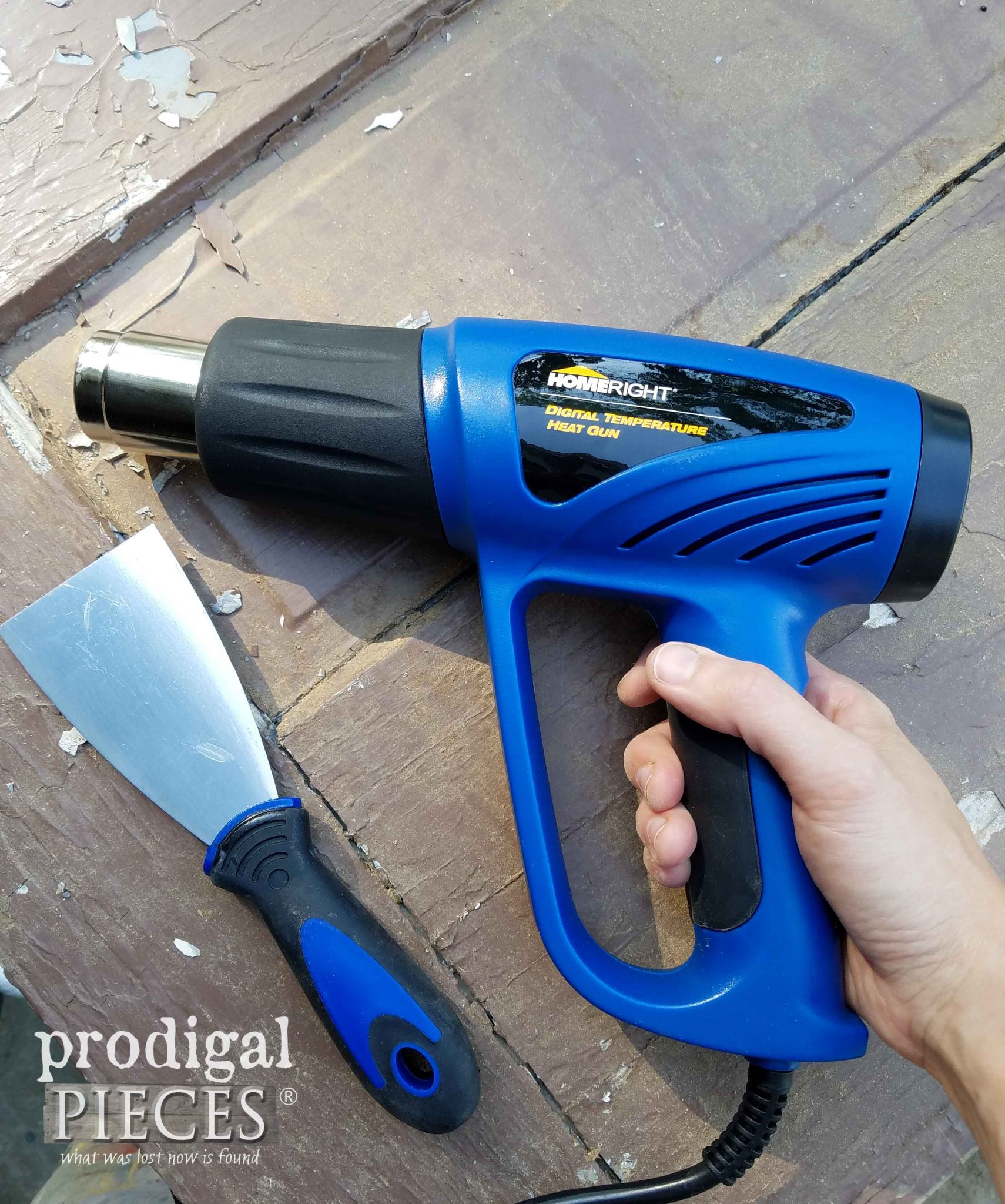 HomeRight Heat Gun to Remove Layers of Paint | prodigalpieces.com