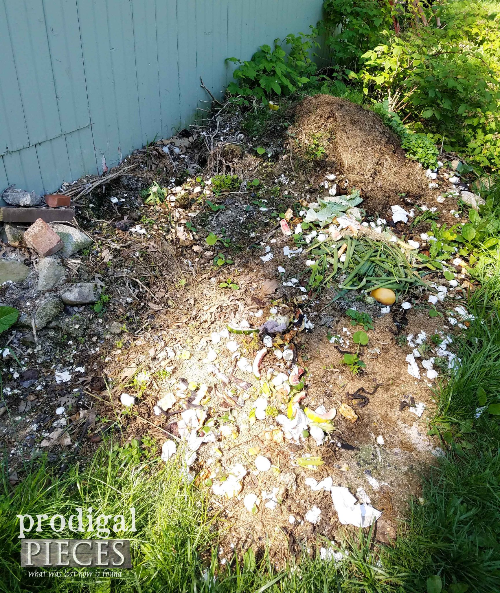 Kitchen Compost Pile | prodigalpieces.com