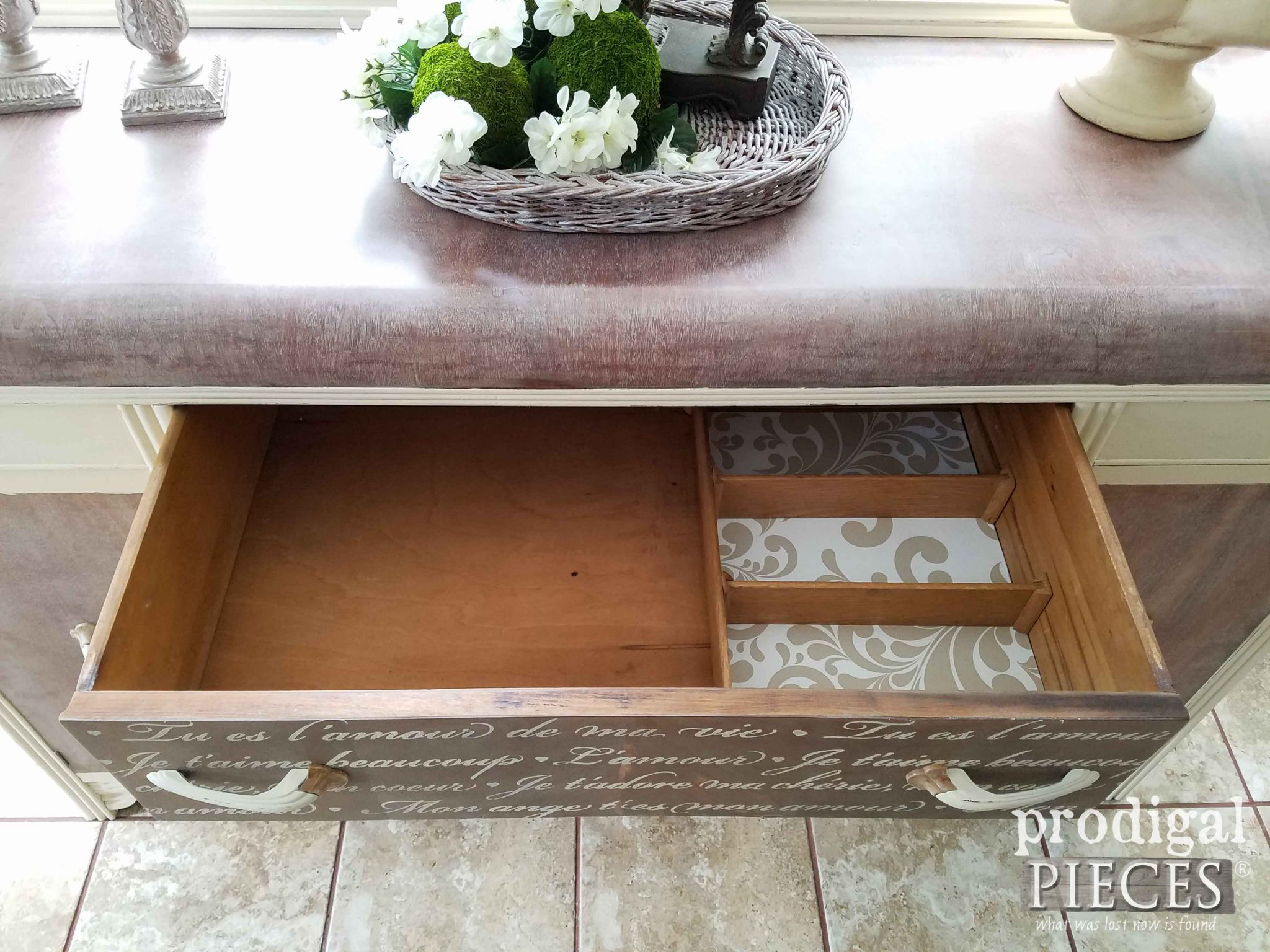 Inside Vintage Art Deco Buffet by Prodigal Pieces | prodigalpieces.com