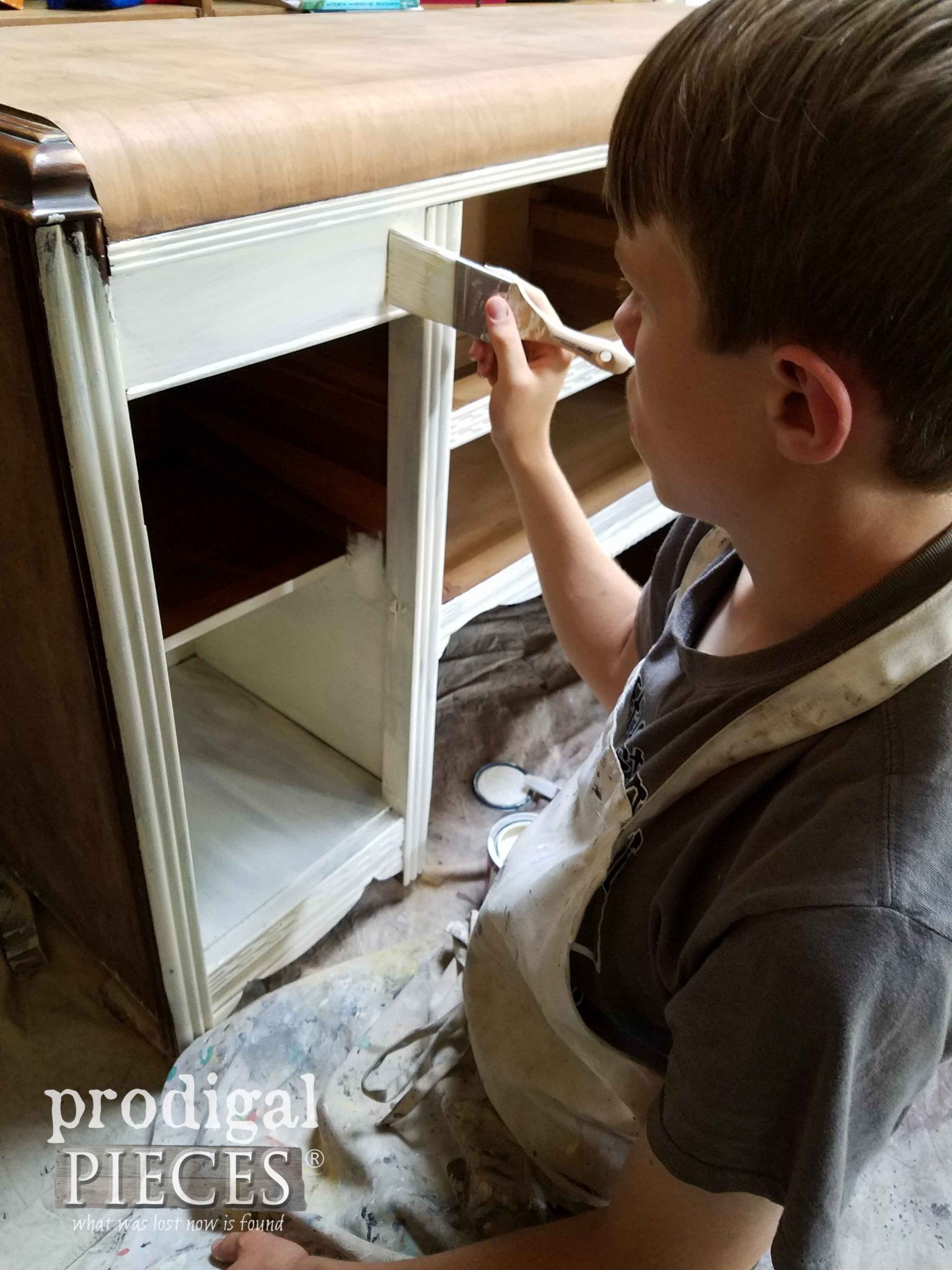 Using Zibra Brushes to Paint Art Deco Buffet | prodigalpieces.com
