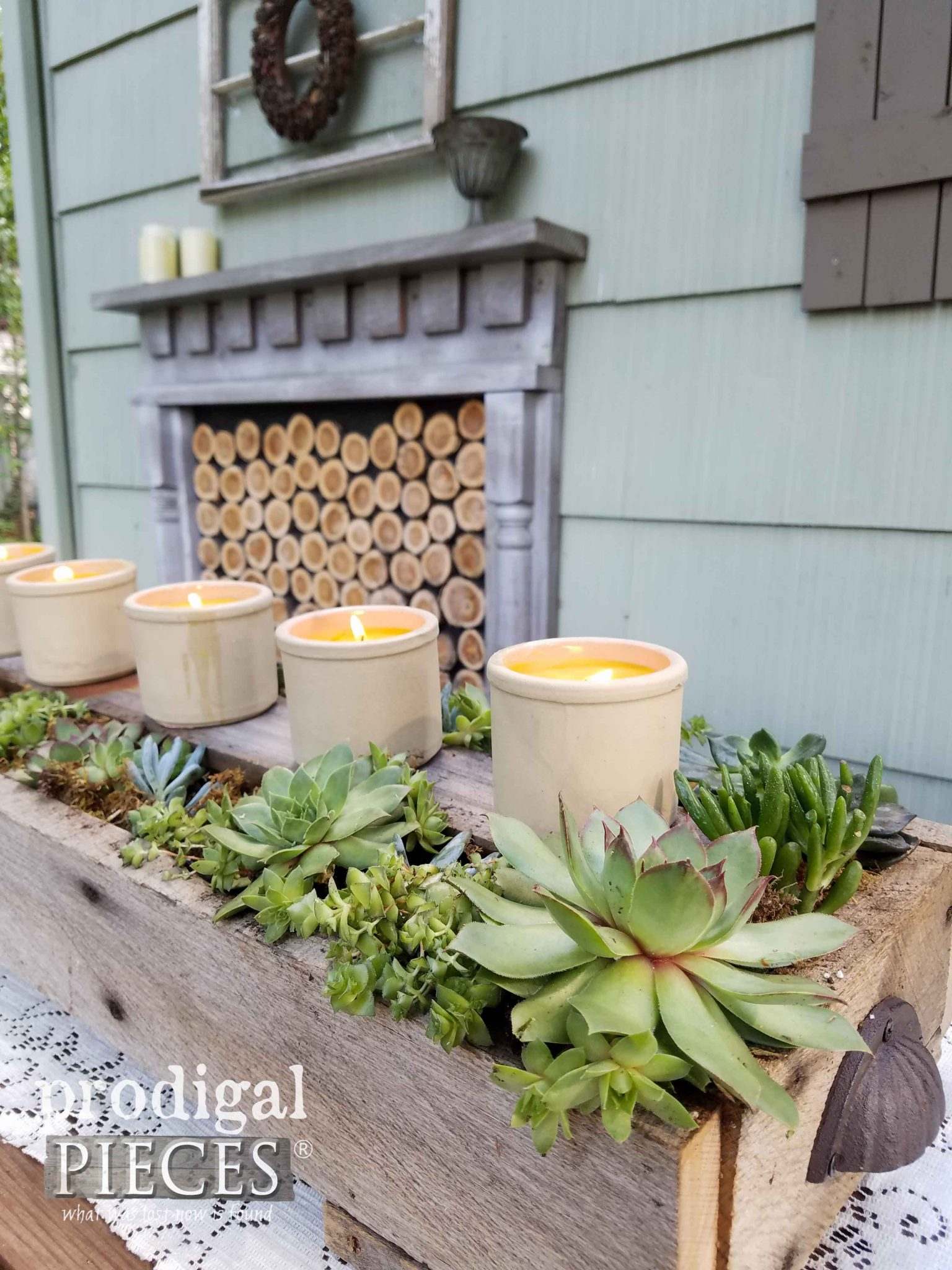 Rustic Succulent Planter for Your Indoor or Outdoor Decor by Prodigal Pieces | prodigalpieces.com