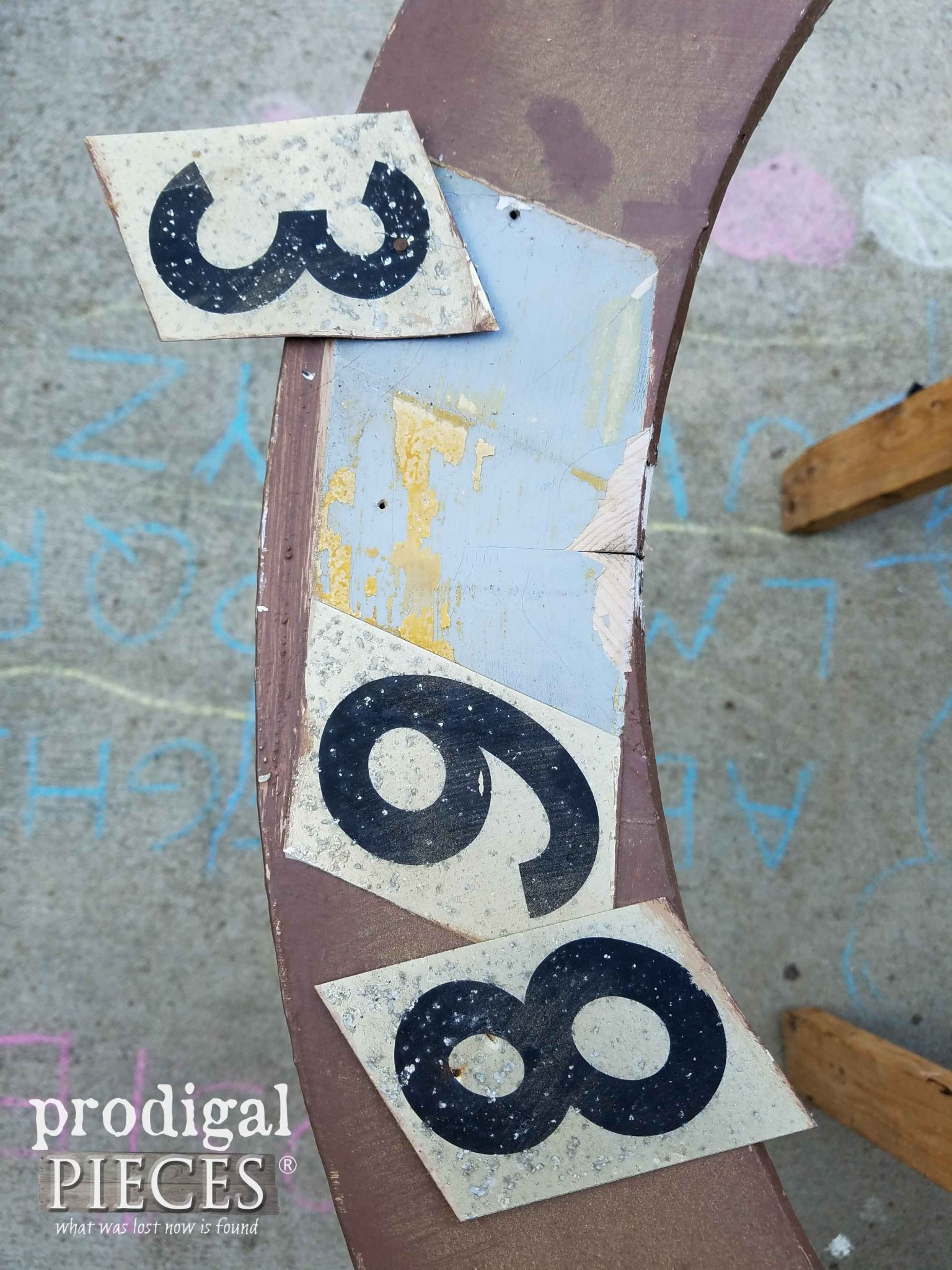 Removing Old Door House Numbers to Prep | prodigalpieces.com