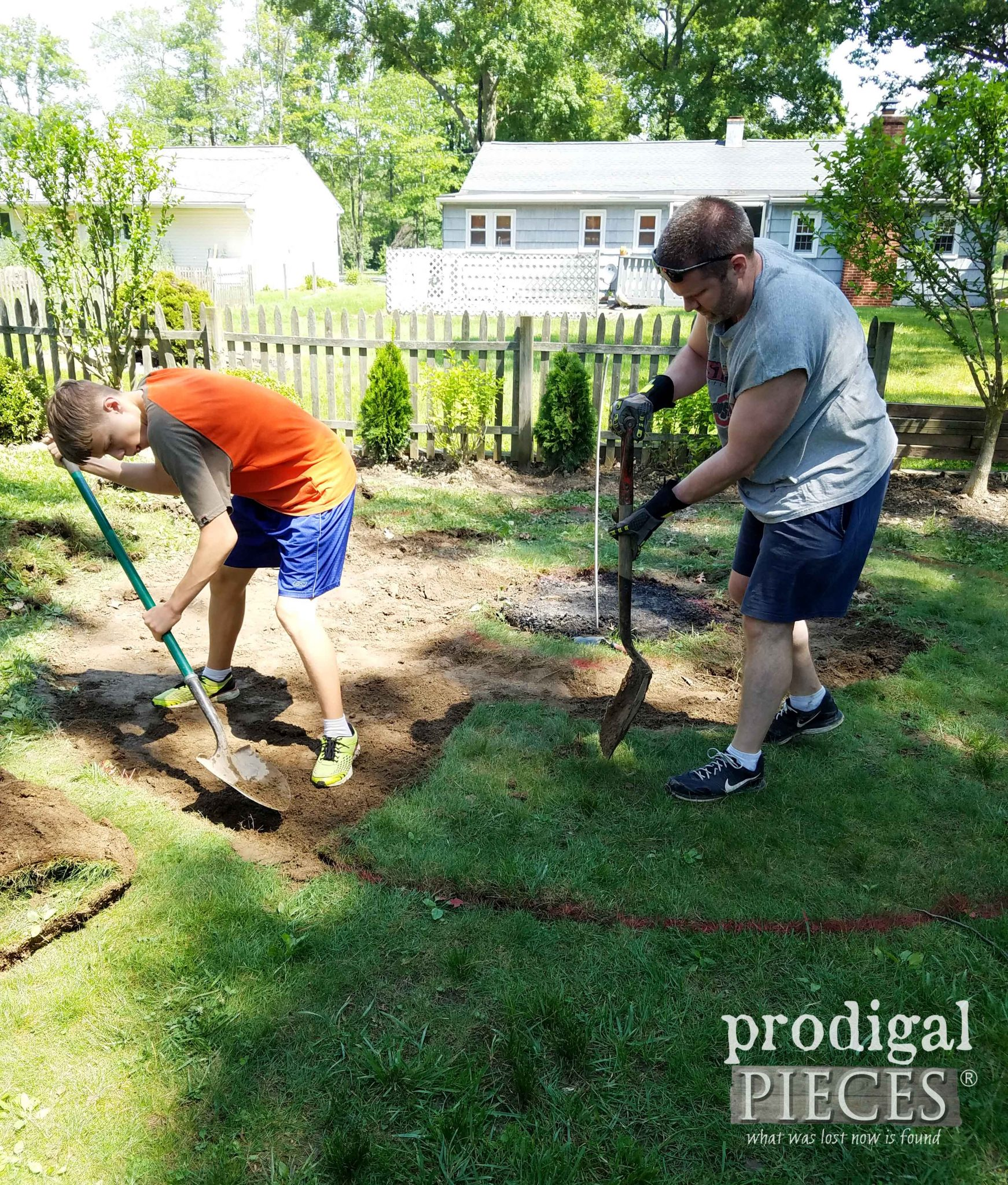 Removing Sod for Fire Pit | prodigalpieces.com