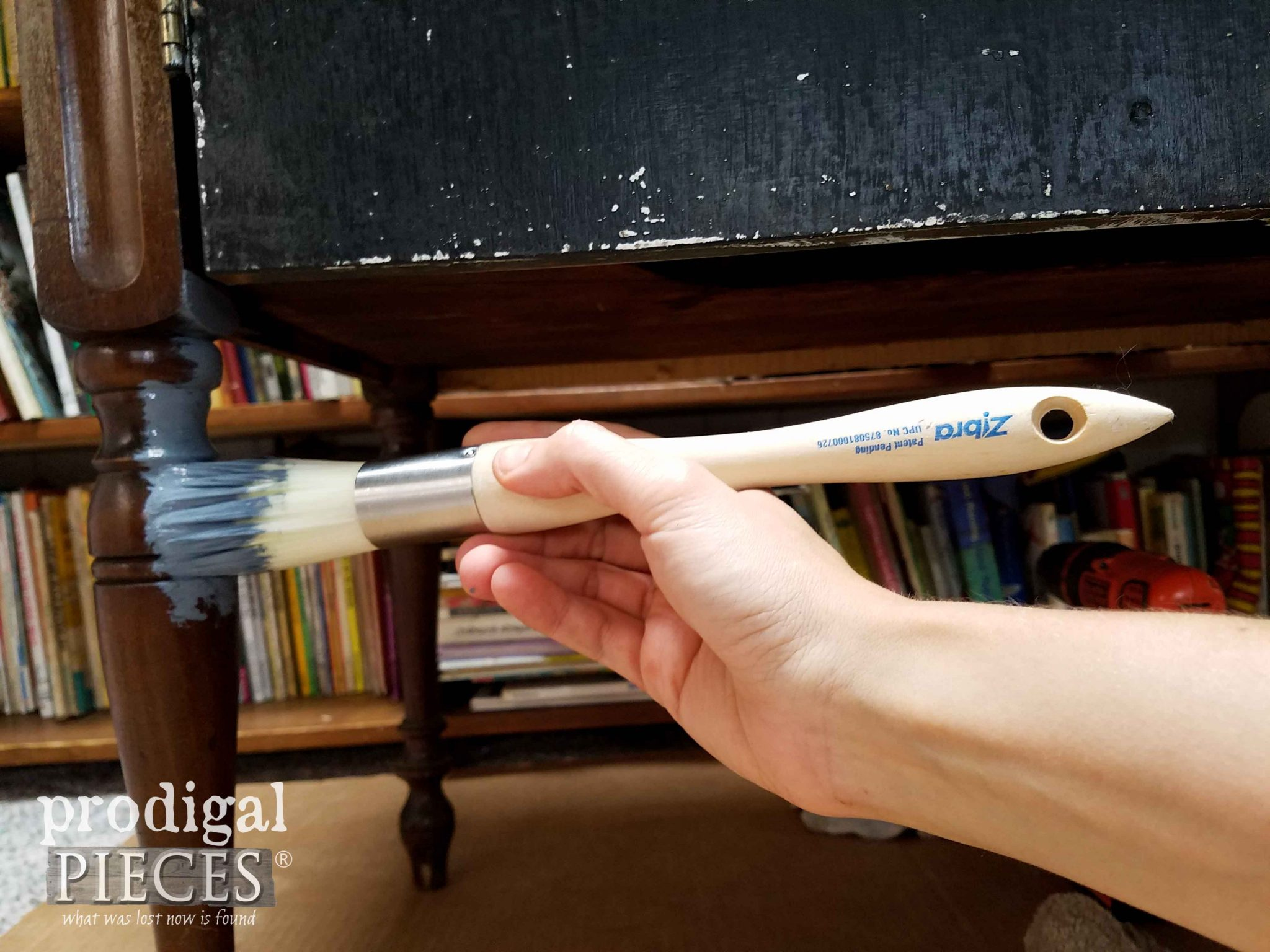 Round Zibra Brush for Furniture Legs and Turnings by Prodigal Pieces | prodigalpieces.com