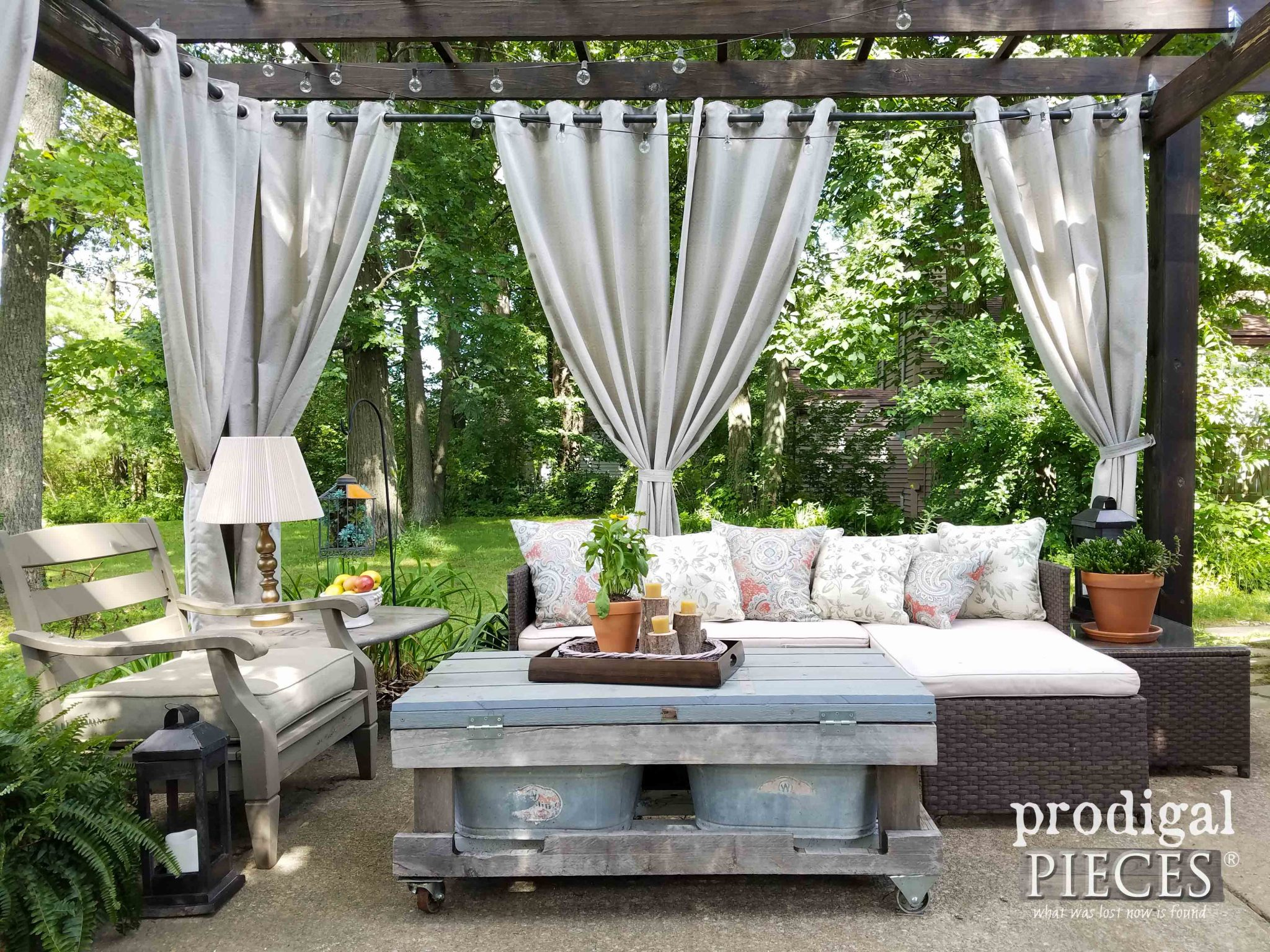 Patio Design with Repurposed and Reclaimed Materials by Prodigal Pieces | prodigalpieces.com