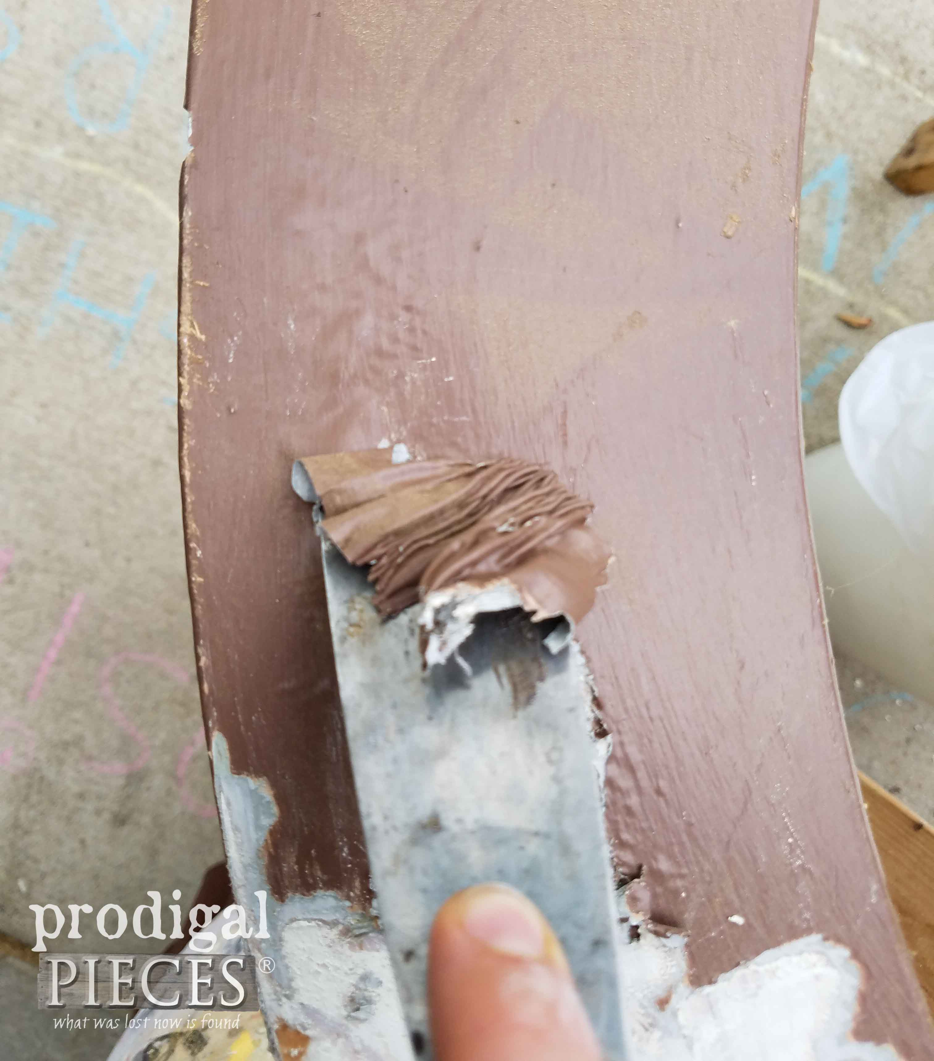 Scraping Paint off with HomeRight Heat Gun by Prodigal Pieces | prodigalpieces.com
