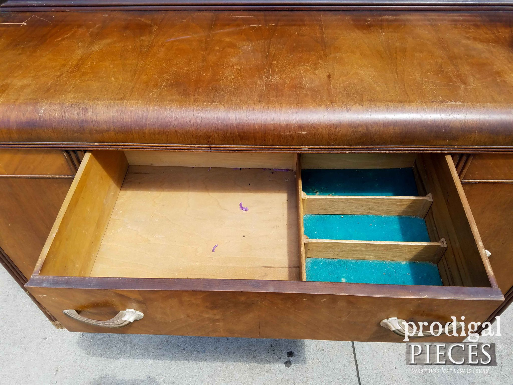 Inside Top Drawer of Waterfall Buffet | prodigalpieces.com