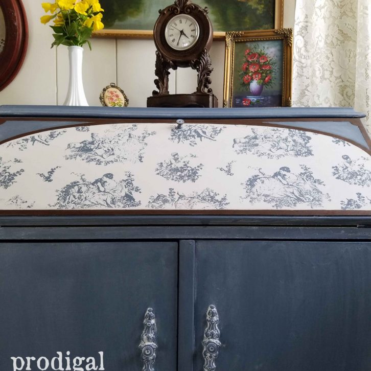 Vintage Desk with Cottage Style Flair by Prodigal Pieces | prodigalpieces.com