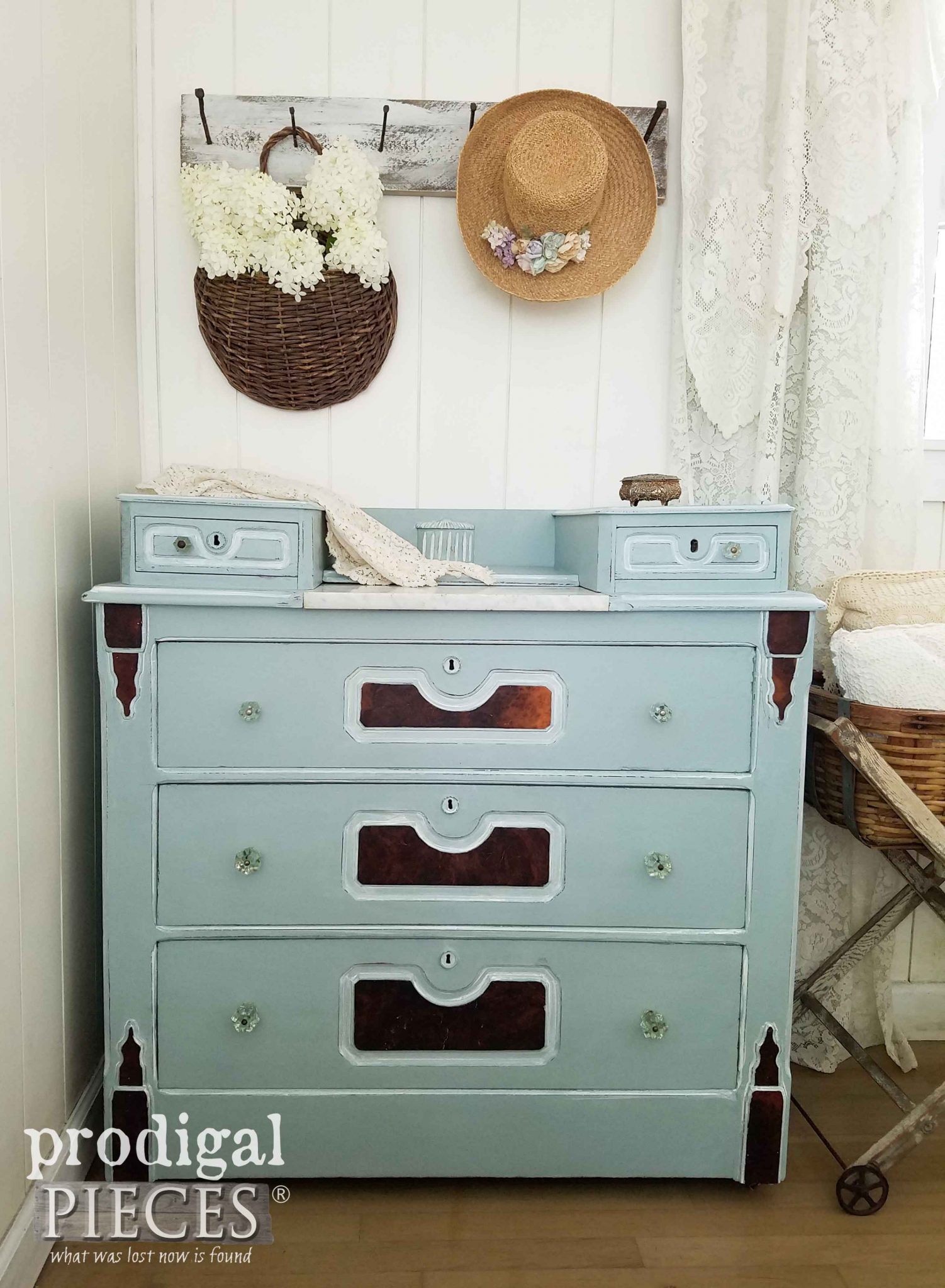 Antique Chest Dresser Given New Life by Prodigal Pieces | prodigalpieces.com