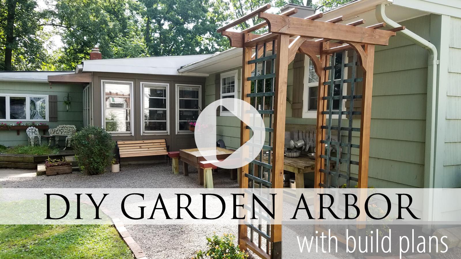 Video Tutorial for DIY Garden Arbor by Larissa of Prodigal Pieces | prodigalpieces.com #prodigalpieces
