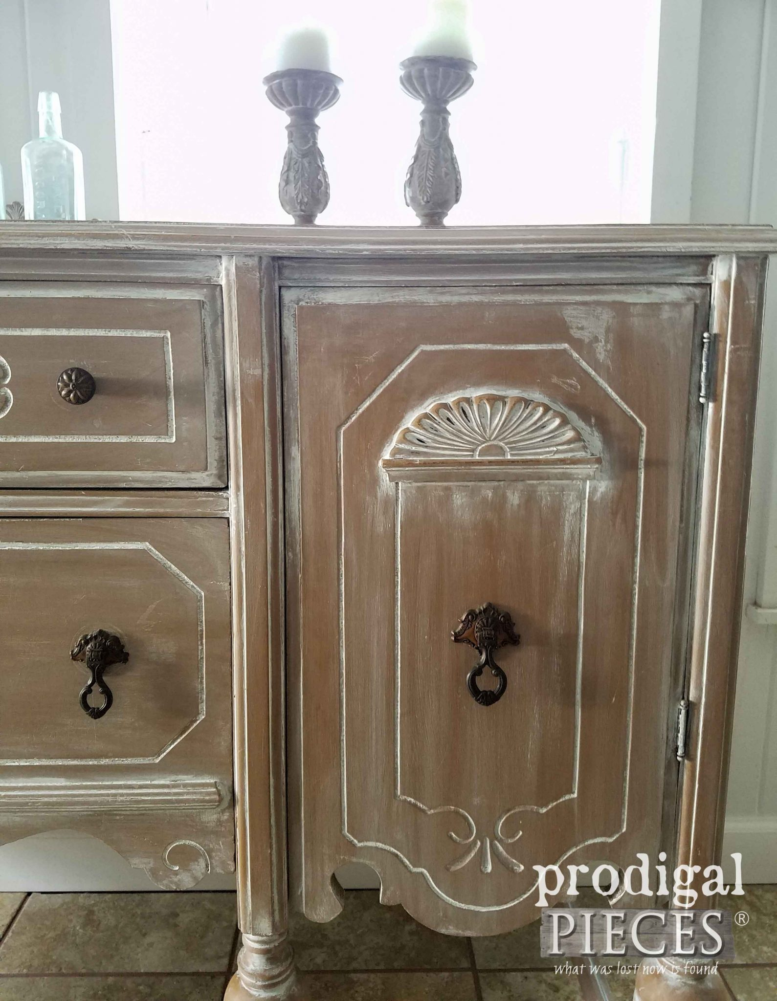 Up Close Look at Buffet Makeover by Prodigal Pieces | prodigalpieces.com