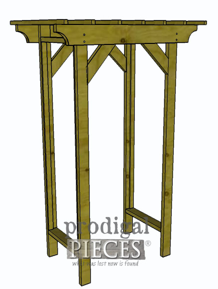 Attaching Corbels to Garden Arbor by Prodigal Pieces | prodigalpieces.com