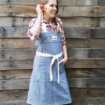 Linen Demi-Chef Apron for Kitchen, Woodworking, Painting, Gardening and more by Prodigal Pieces   prodigalpieces.com