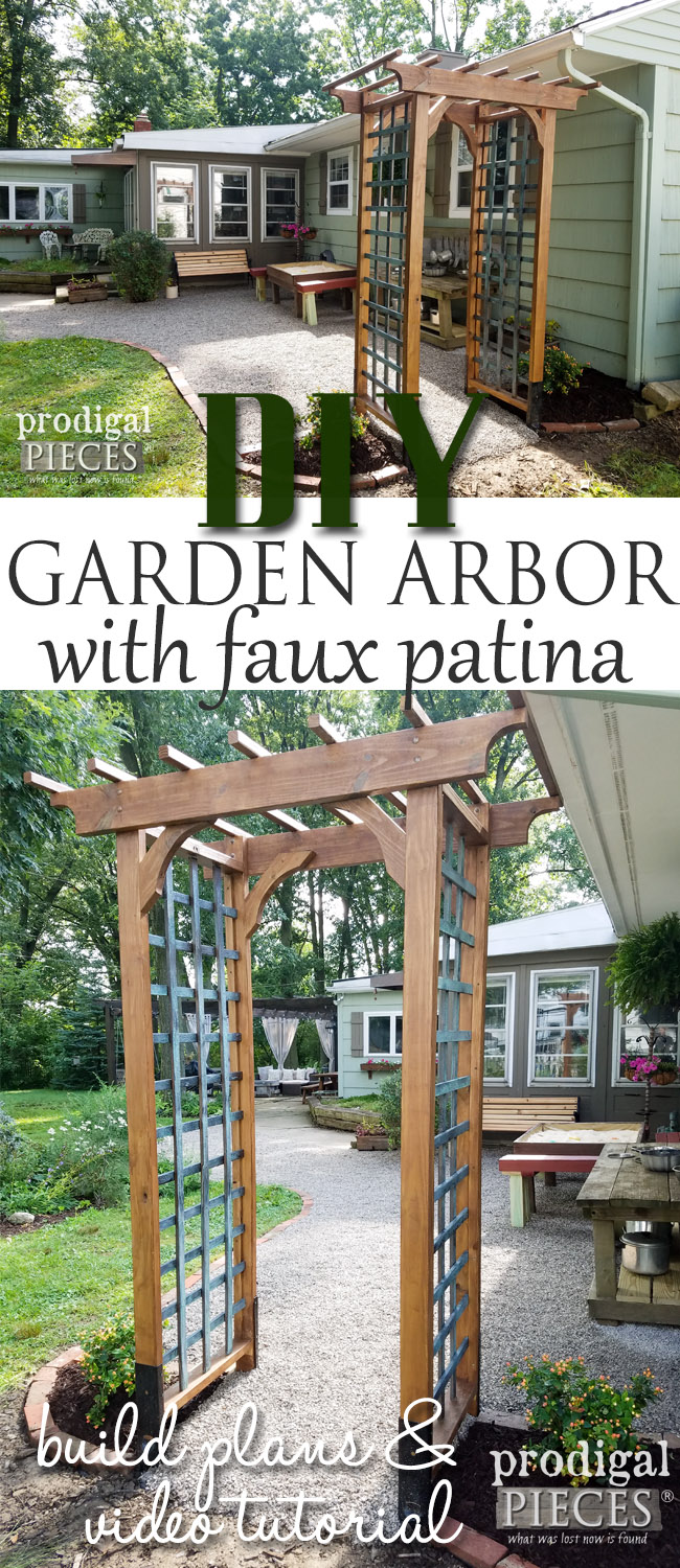 Build this beautiful DIY Garden Arbor to add height and growing space to your garden. Full build plans with video at Prodigal Pieces | prodigalpieces.com