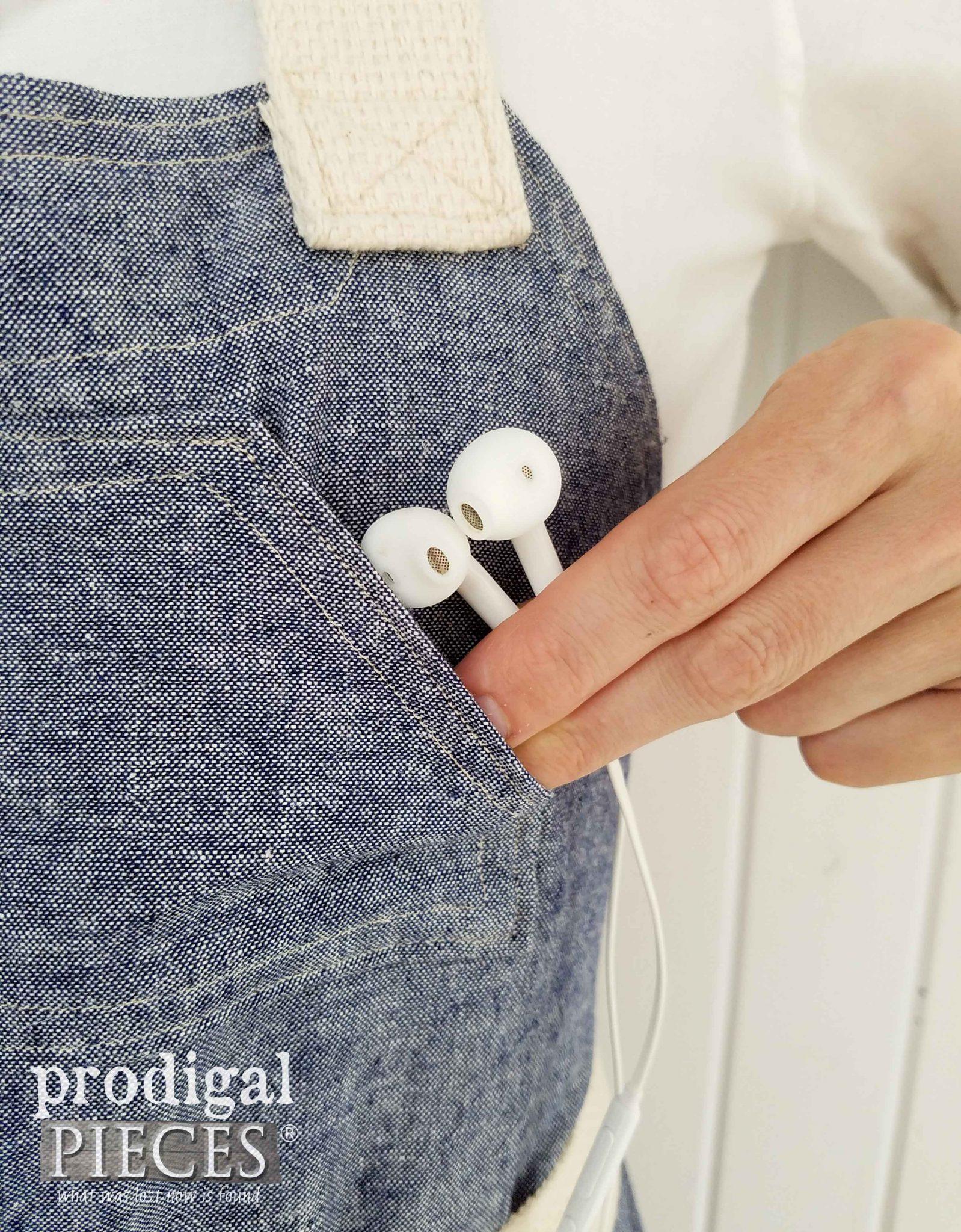 Bib Pocket on Apron by Prodigal Pieces   prodigalpieces.com