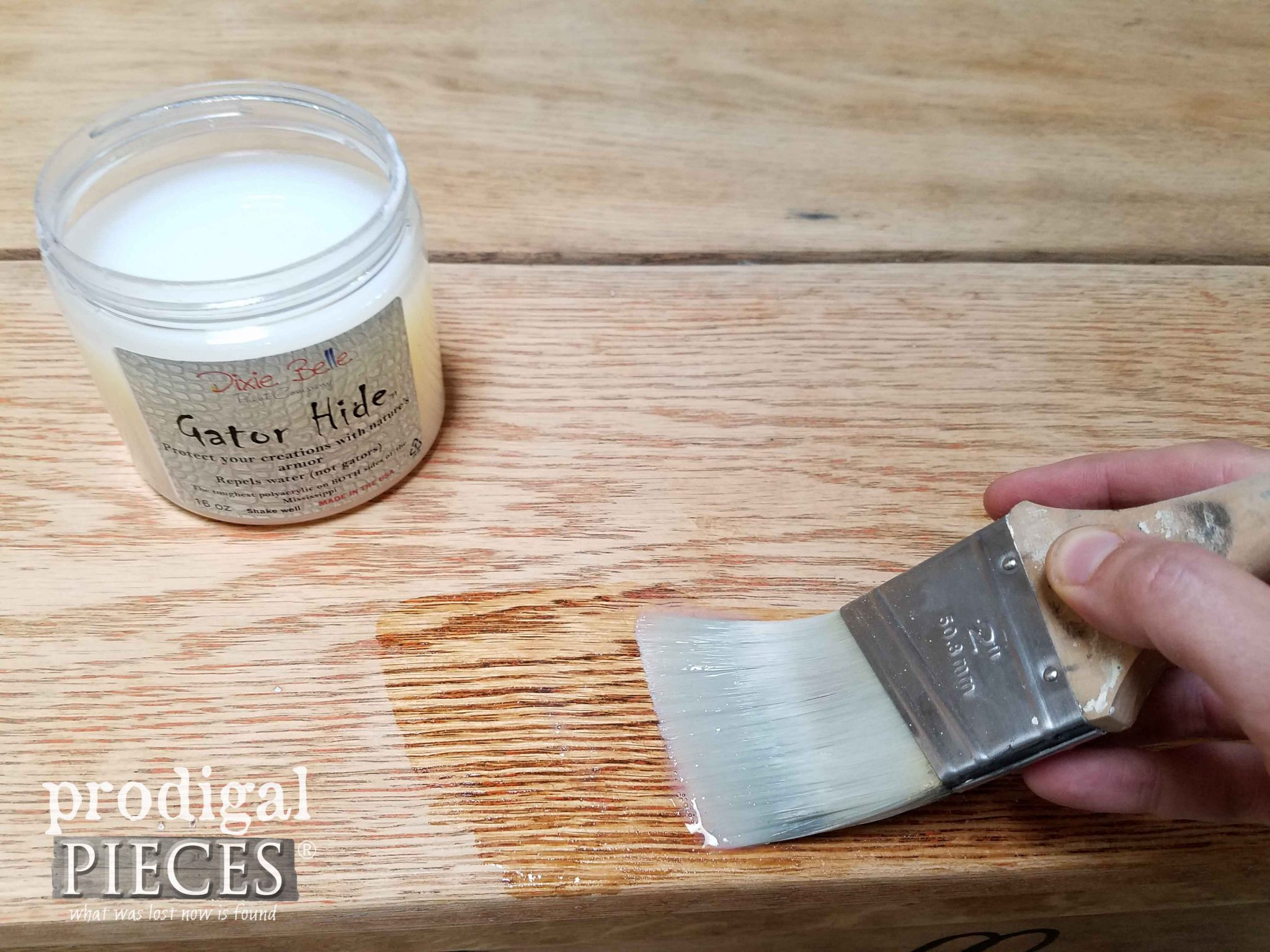 Gator Hide by Dixie Belle Paint Company for Topcoat by Prodigal Pieces | prodigalpieces.com