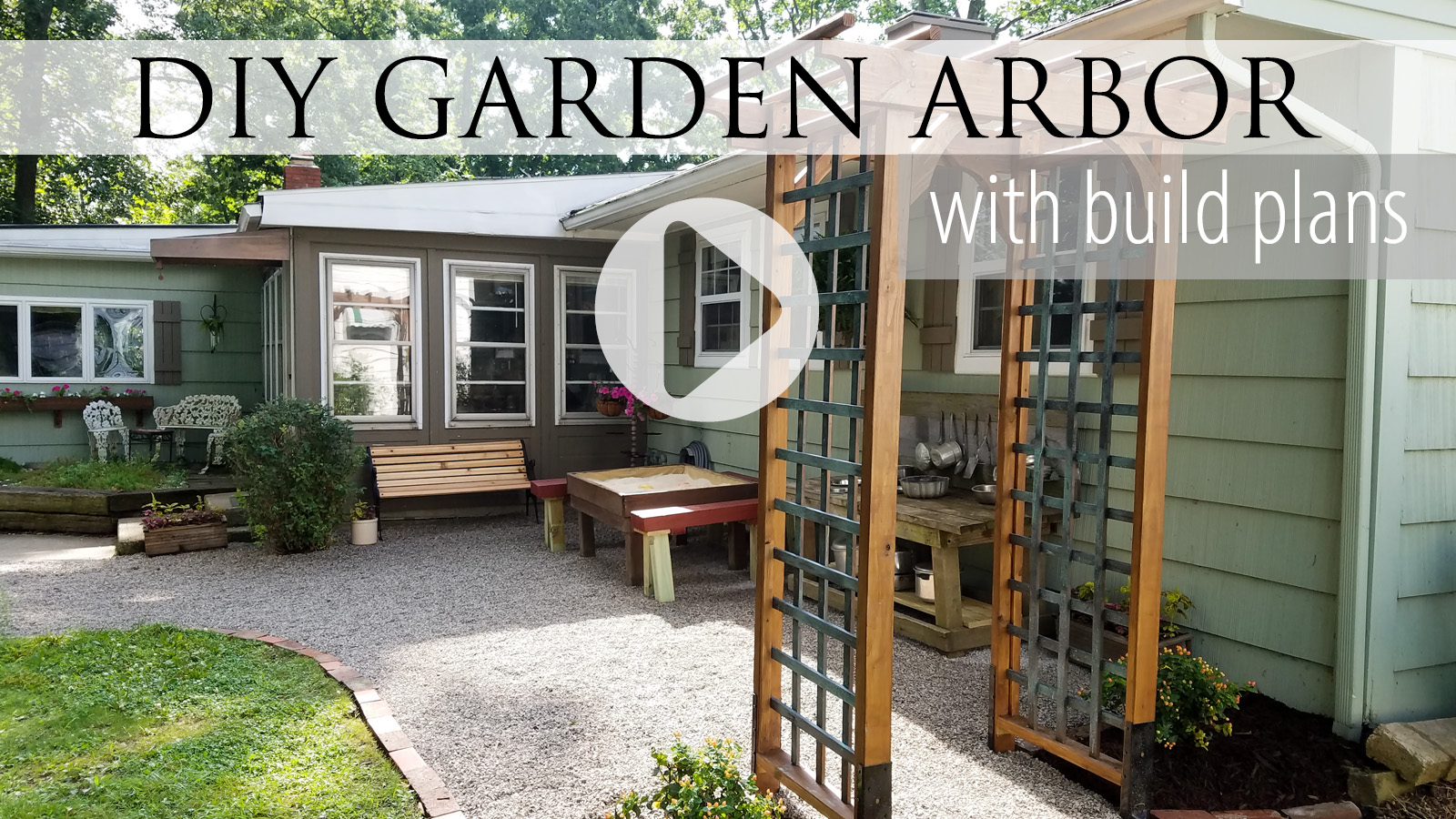 Video Tutorial of a DIY Garden Arbor by Larissa of Prodigal Pieces | prodigalpieces.com #prodigalpieces