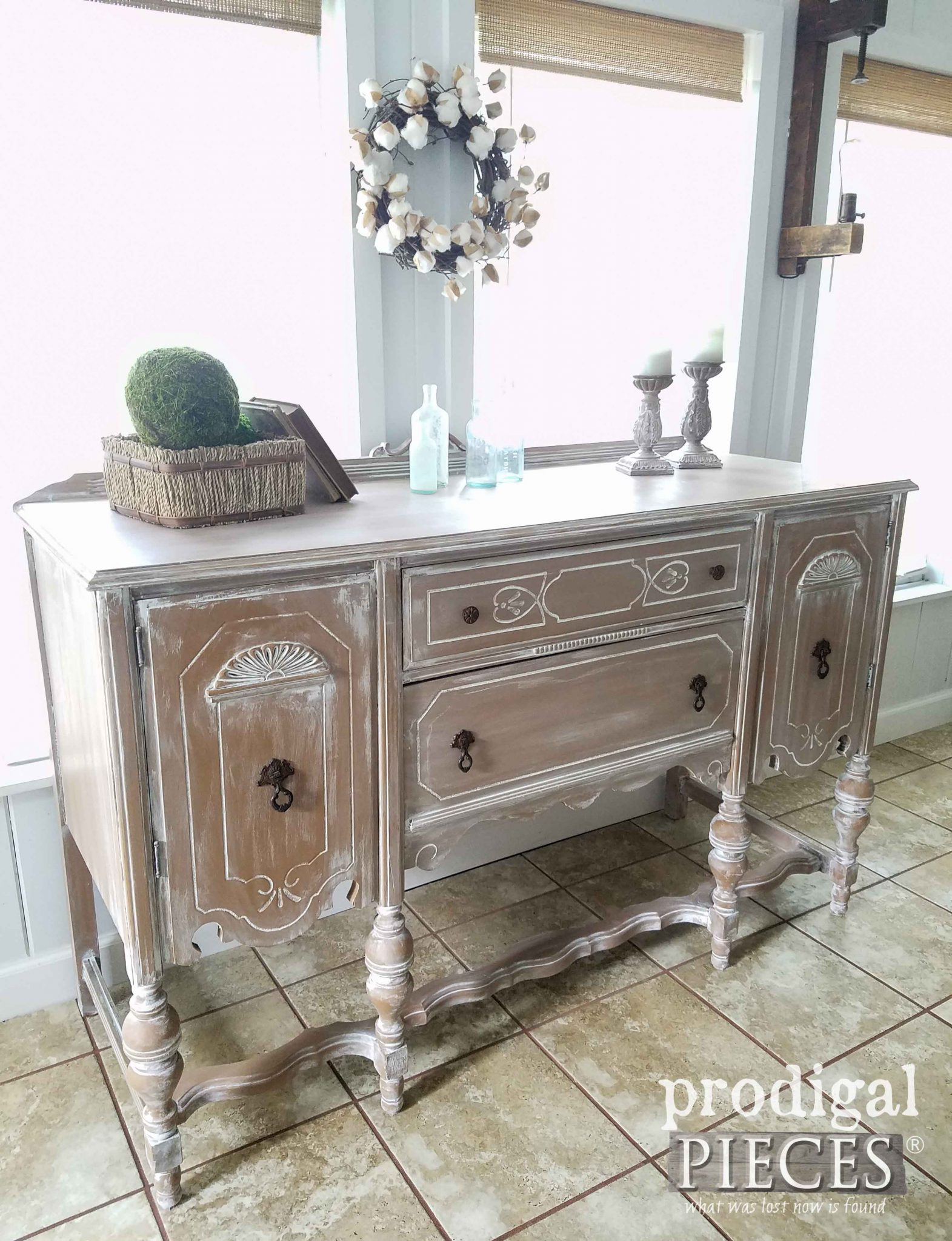 Gorgeous Antique Buffet Made New by Prodigal Pieces | prodigalpieces.com