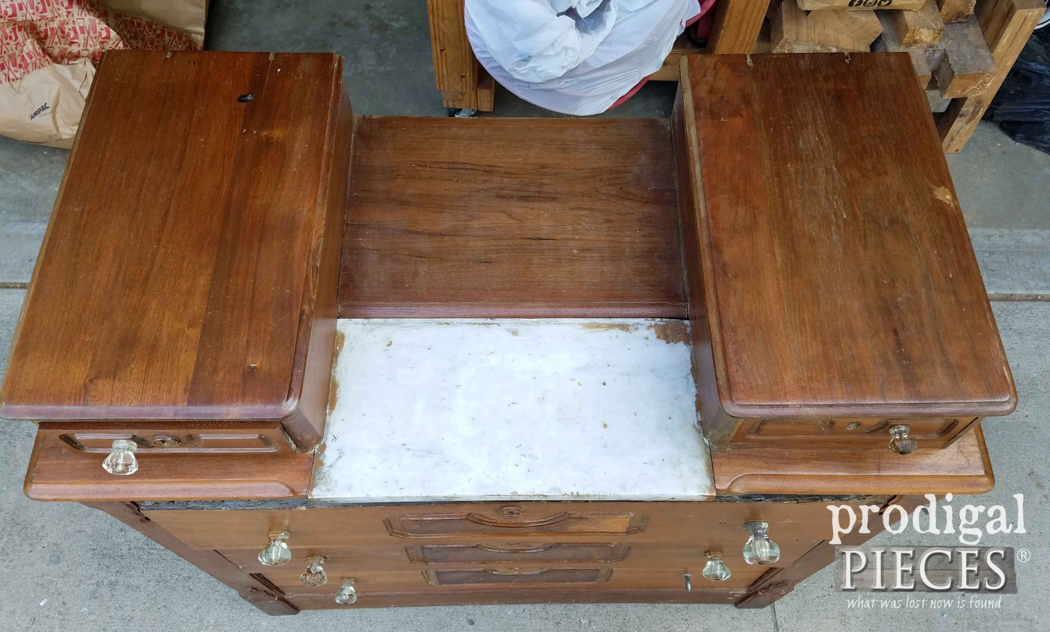 Marble Topped Antique Chest | prodigalpieces.com