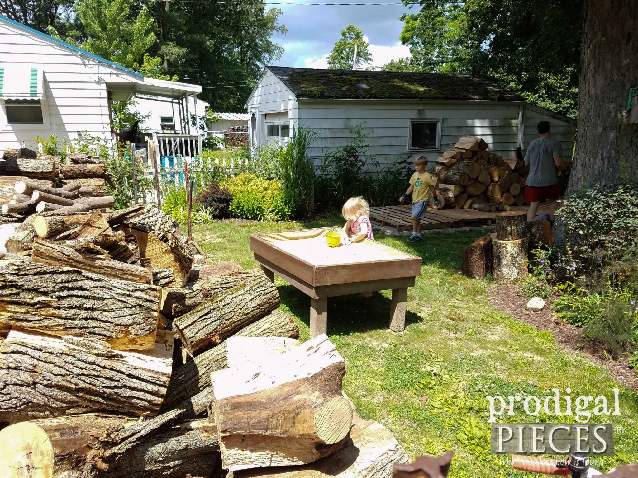 Moving Firewood to New Location | prodigalpieces.com