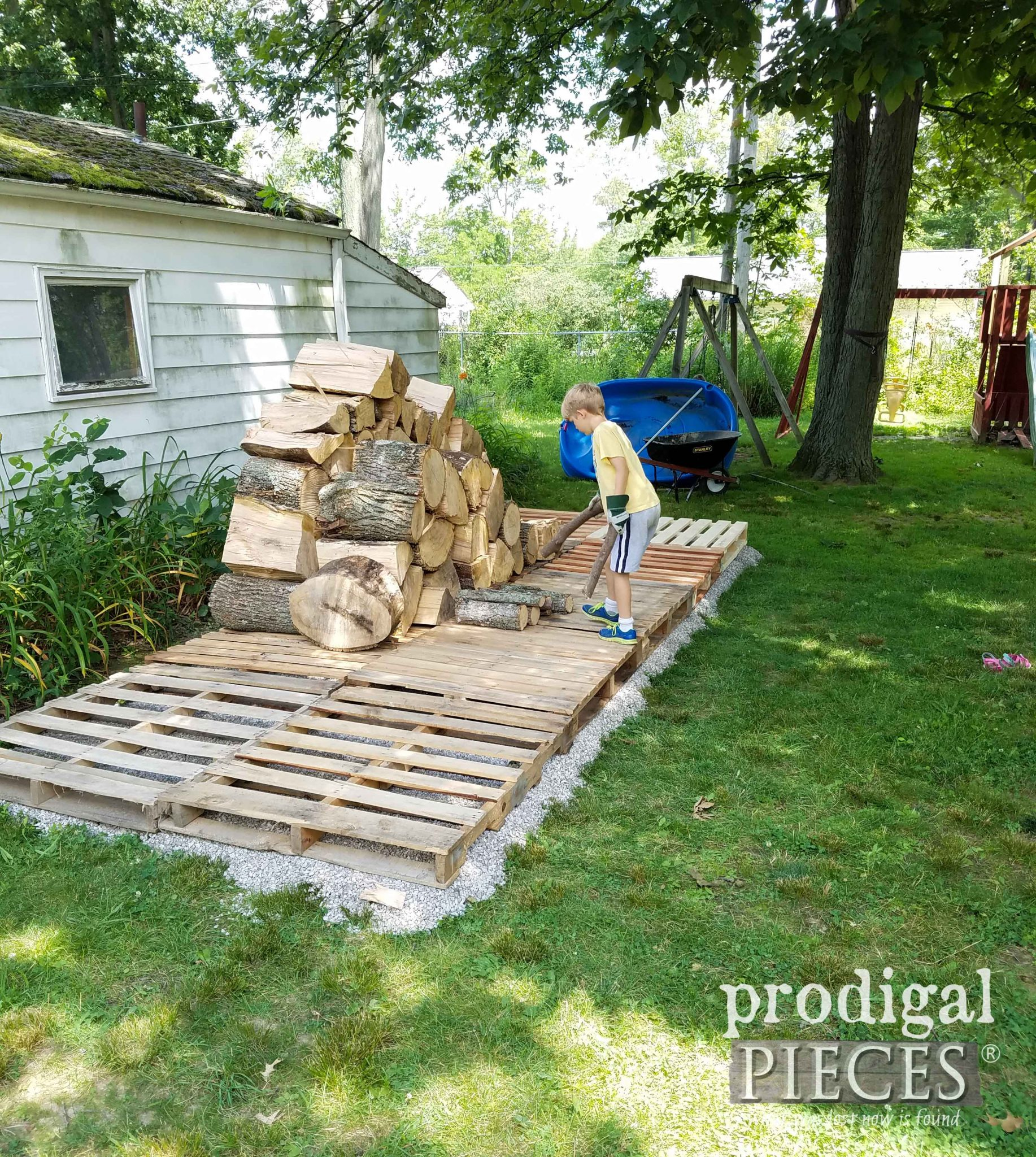 Beginning of Wood Shed | prodigalpieces.com