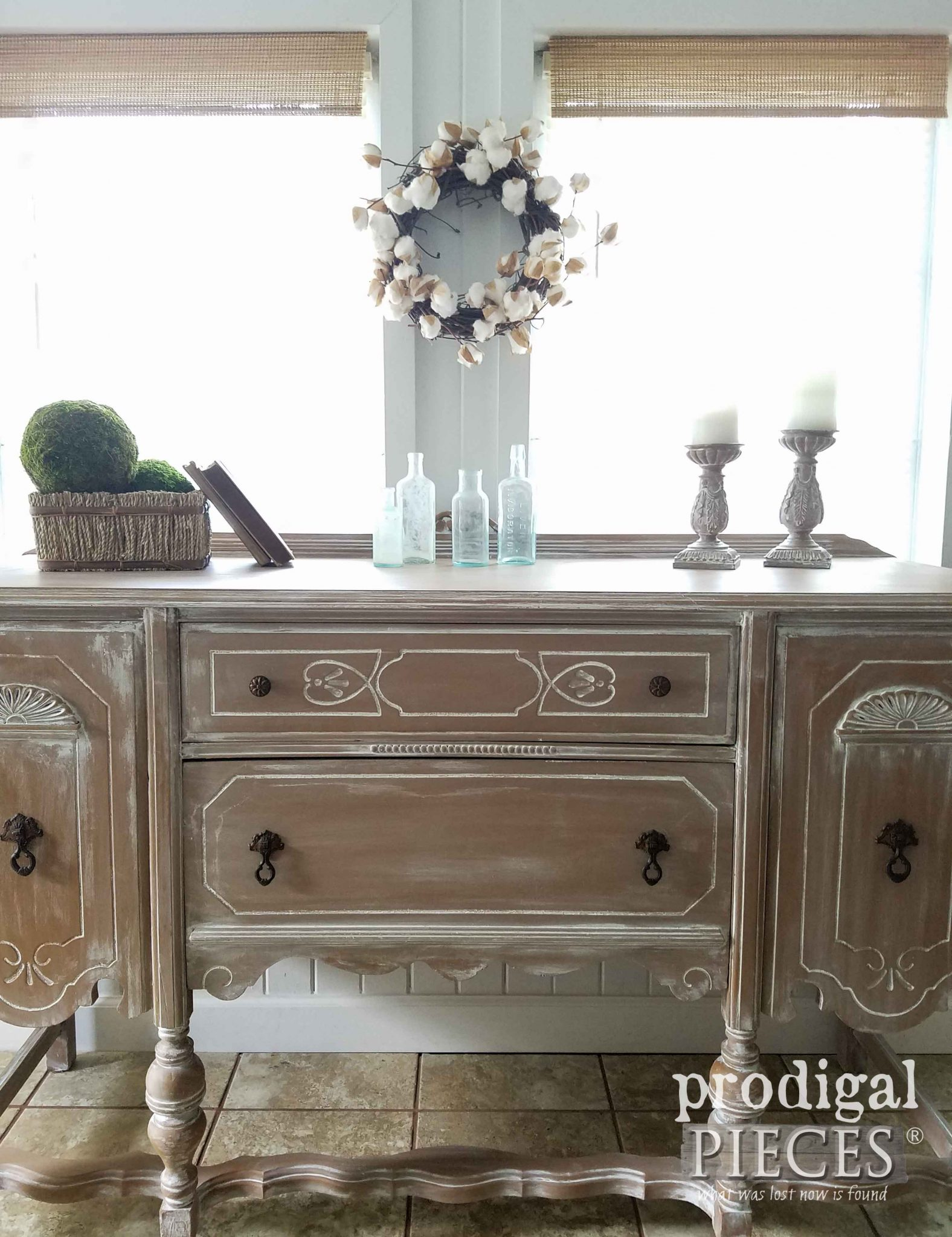 Rustic Chic Buffet with Farmhouse Feel by Prodigal Pieces | prodigalpieces.com