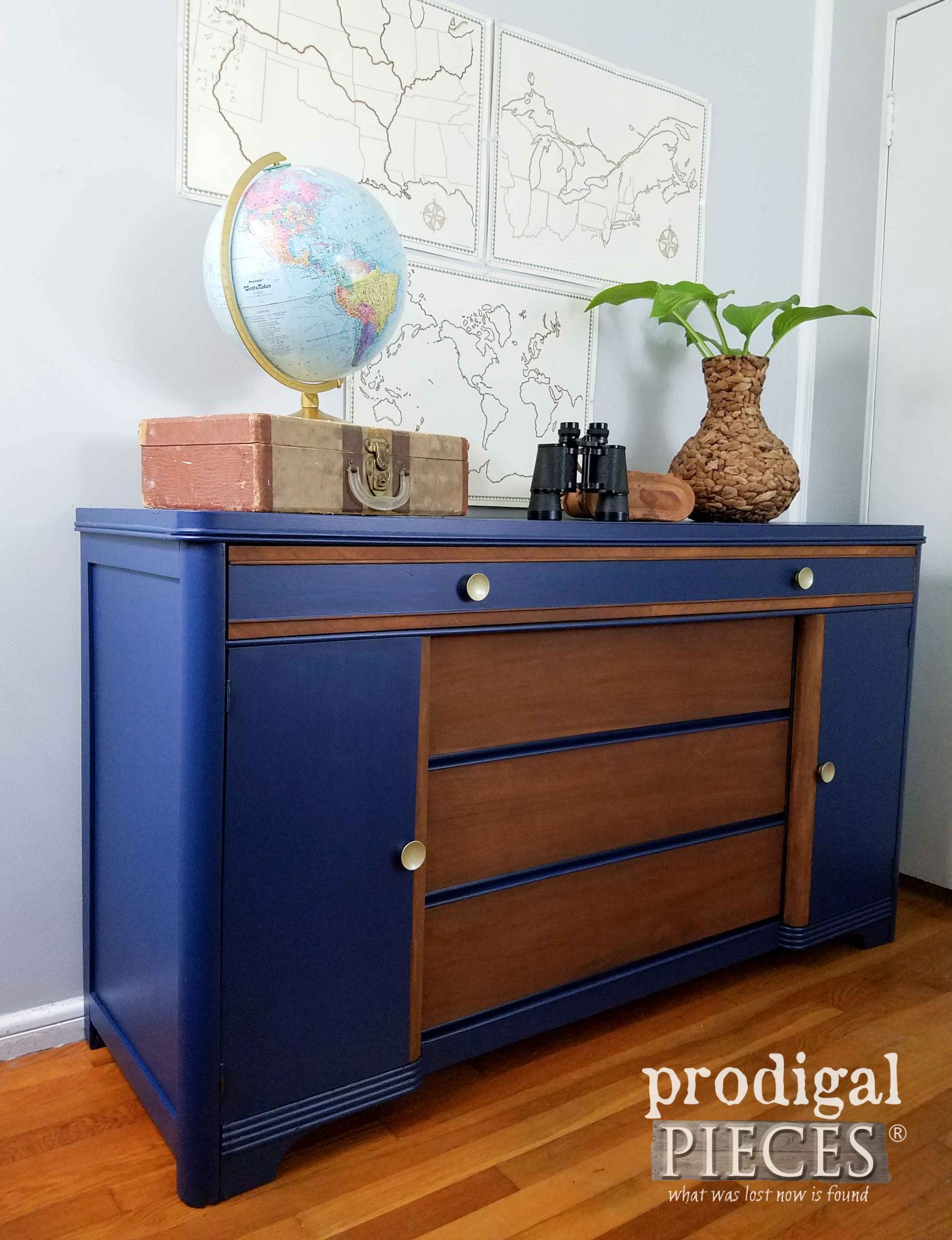 Modern Chic Art Deco Buffet By Prodigal Pieces