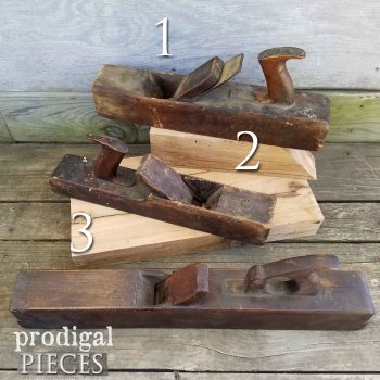 Selection of Antique Hand Planers at prodigalpieces.com
