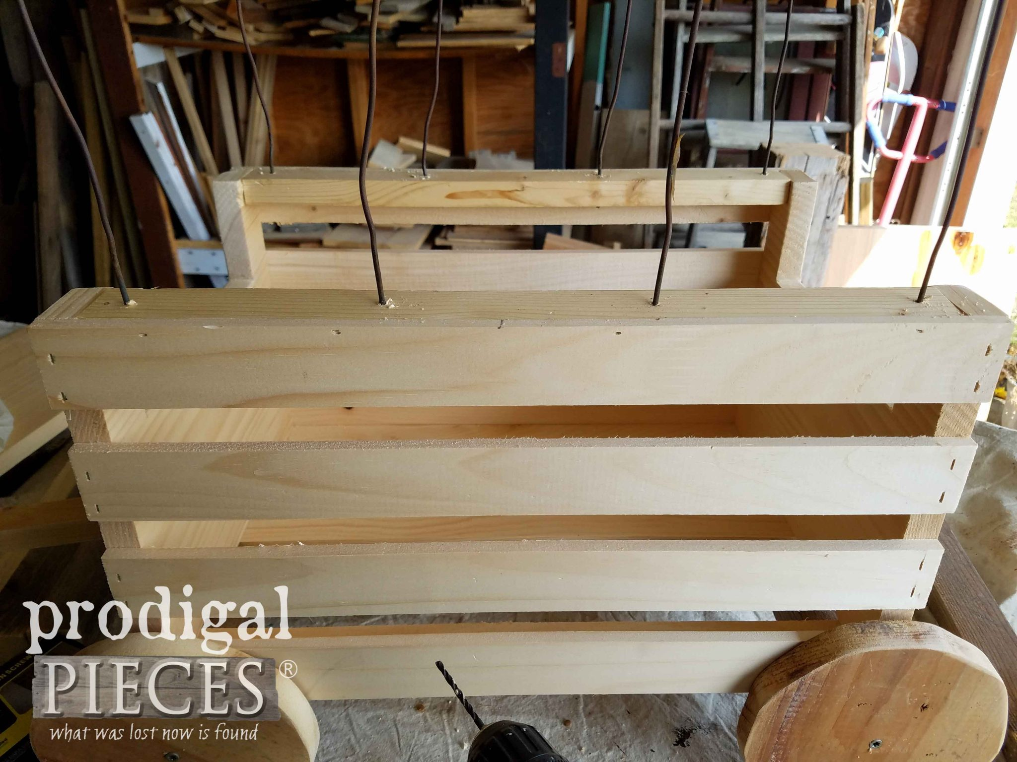 Attaching Covered Wagon Spines by Prodigal Pieces | prodigalpieces.com