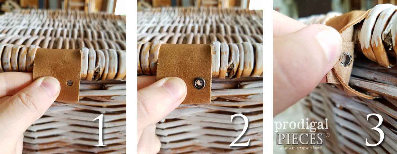 Steps to Attach Eyelets to Leather | Prodigal Pieces | prodigalpieces.com