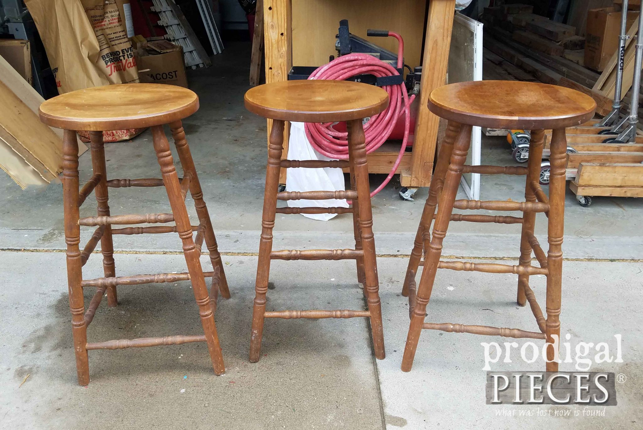 Bar Stools Before Makeover by Prodigal Pieces | prodigalpieces.com
