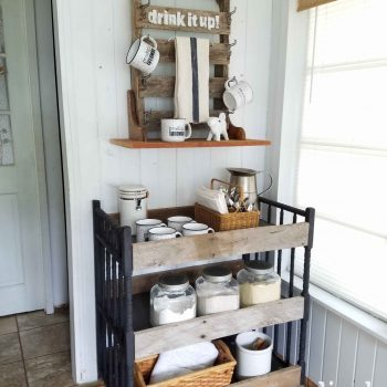 Farmhouse Style Reclaimed Barn Wood Cart and Changing Table Repurposed by Prodigal Pieces | prodigalpieces.com