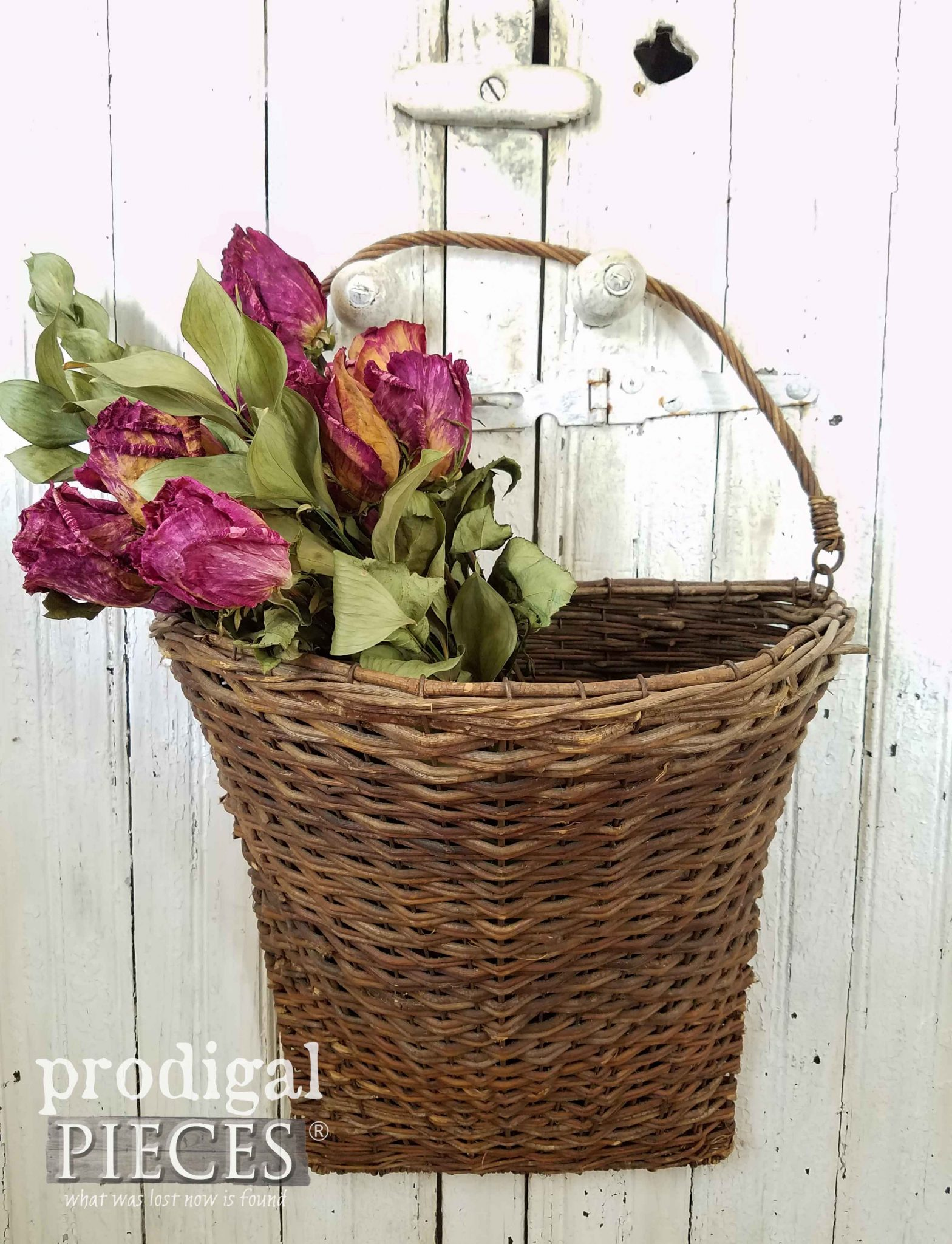 Basket of Roses by Prodigal Pieces | prodigalpieces.com