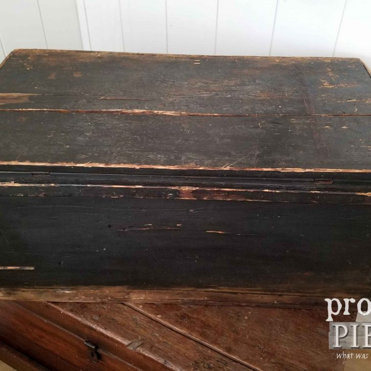 Back of Black Blanket Chest | prodigalpieces.com