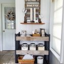 Reclaimed Wood Storage Cart for Kitchen, Bath, and more available at Prodigal Pieces | prodigalpieces.com