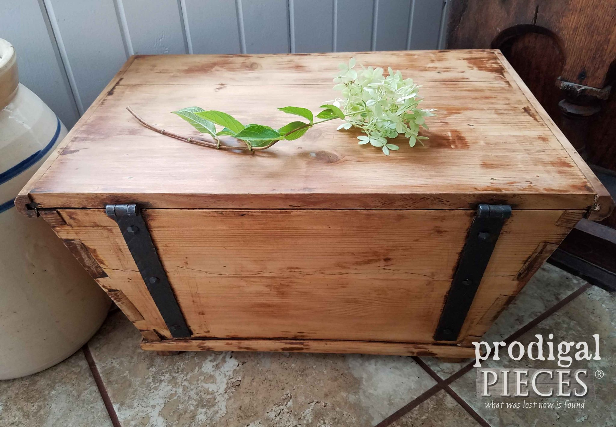 Vintage Handmade Wooden Chest by Prodigal Pieces | prodigalpieces.com