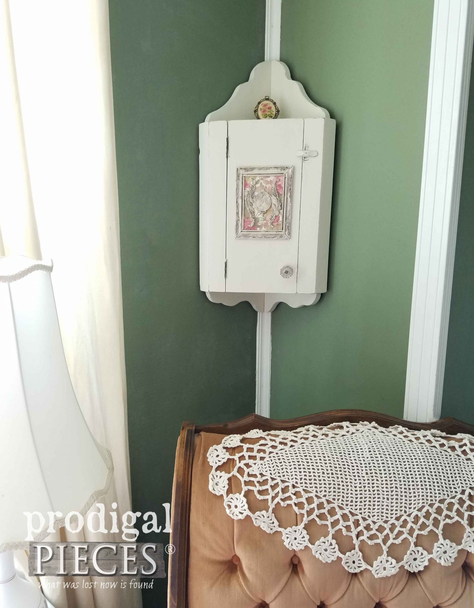 Corner China Cabinet Makeover by Prodigal Pieces | prodigalpieces.com