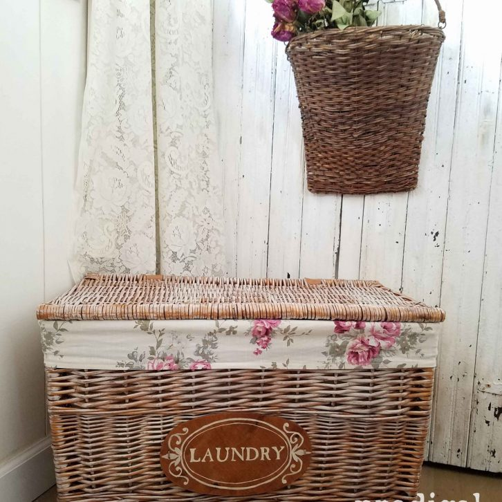 Farmhouse Laundry Basket Cart complete with DIY steps by Prodigal Pieces | prodigalpieces.com