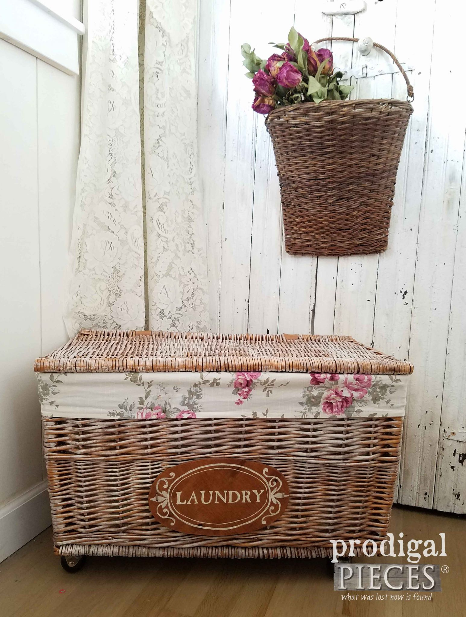 Farmhouse Laundry Cart complete with DIY steps by Prodigal Pieces | prodigalpieces.com