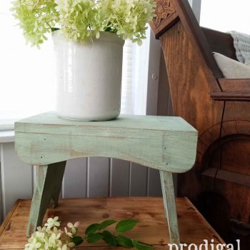 Farmhouse Wooden Milking Stool by Prodigal Pieces | prodigalpieces.com
