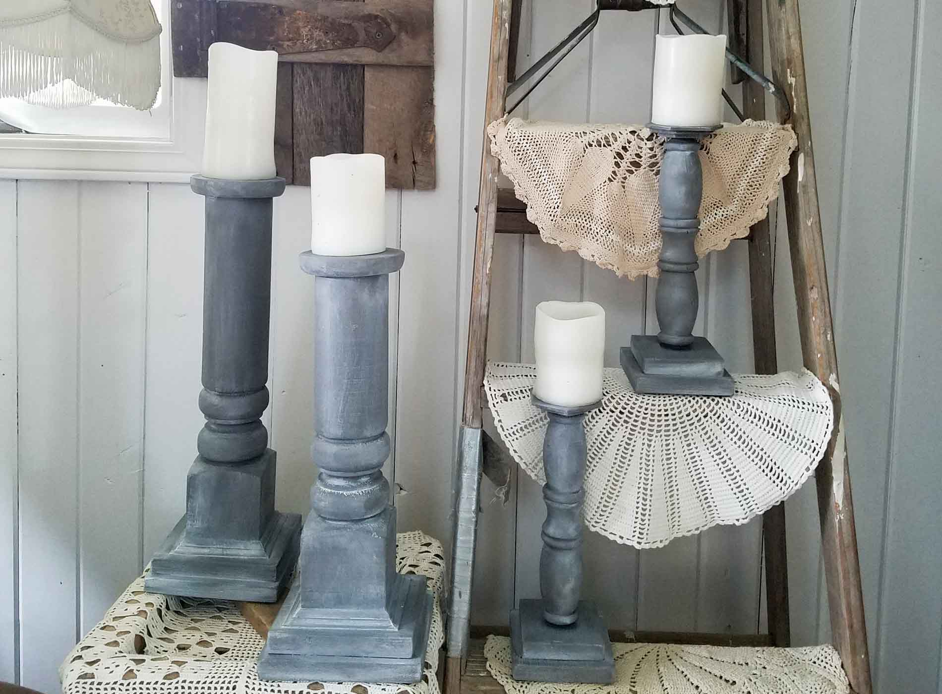 Diy Candlesticks From Repurposed Materials Prodigal Pieces