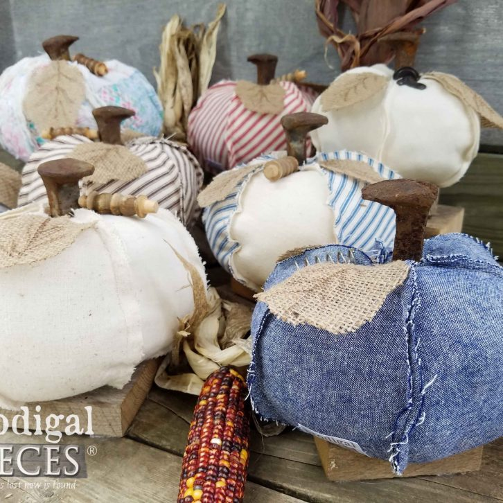 Upcycled Farmhouse Style Pumpkins available at Prodigal Pieces | prodigalpieces.com
