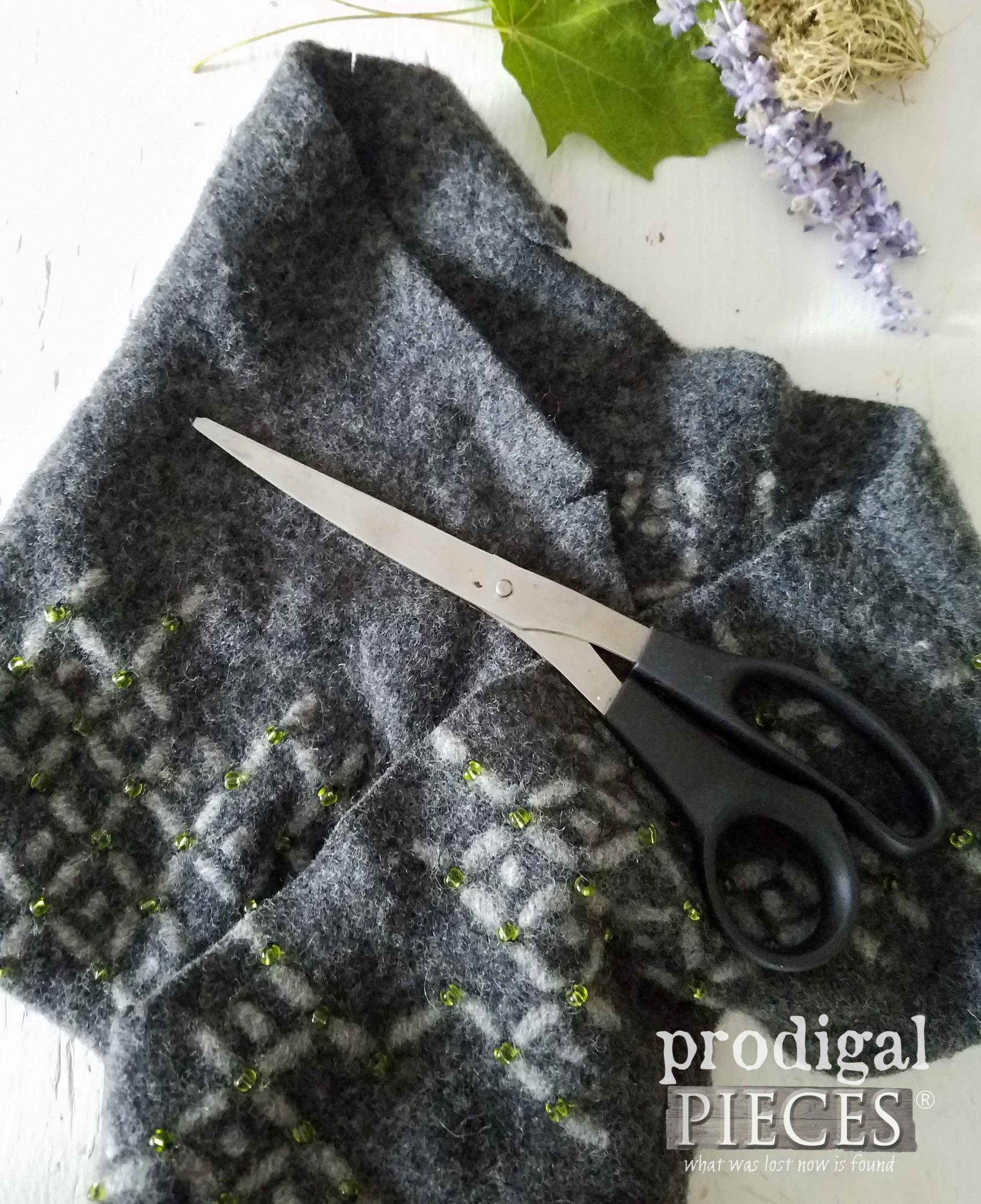 Felted Sweater Scraps for Chair Pads. Frugal Tip by Prodigal Pieces | prodigalpieces.com