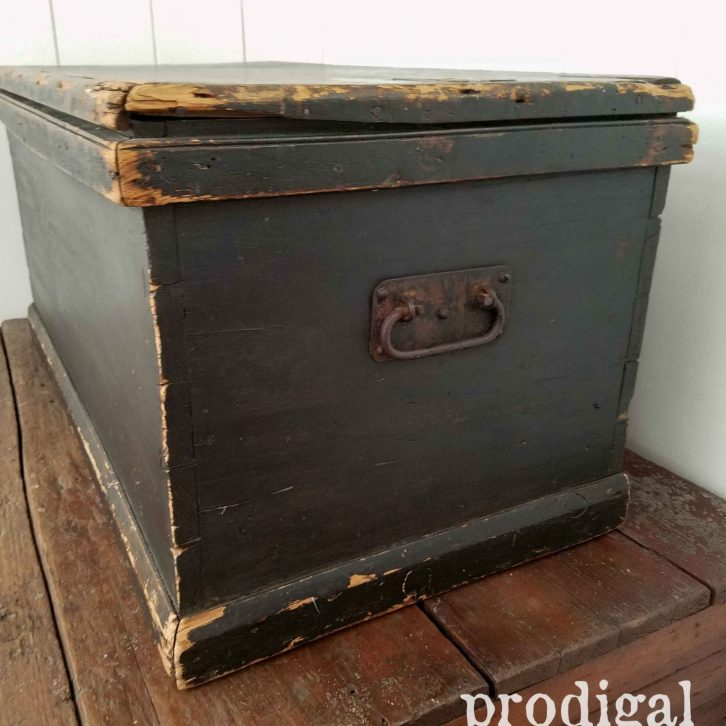 Hand-Forged Iron Pulls on Farmhouse Blanket Chest at Prodigal Pieces | prodigalpieces.com