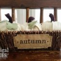 Handmade Autumn Pumpkins in Basket by Prodigal Pieces | prodigalpieces.com
