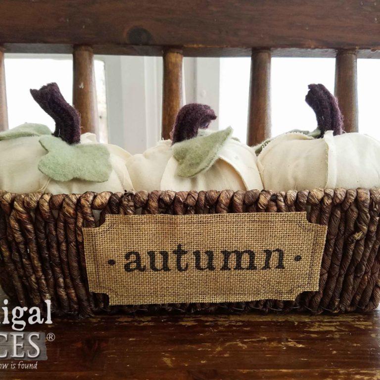 Handmade Autumn Pumpkins in Basket by Prodigal Pieces | prodigalpieces.com