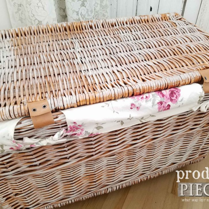 Hinged Laundry Basket with Leather Straps. DIY by Prodigal Pieces | prodigalpieces.com