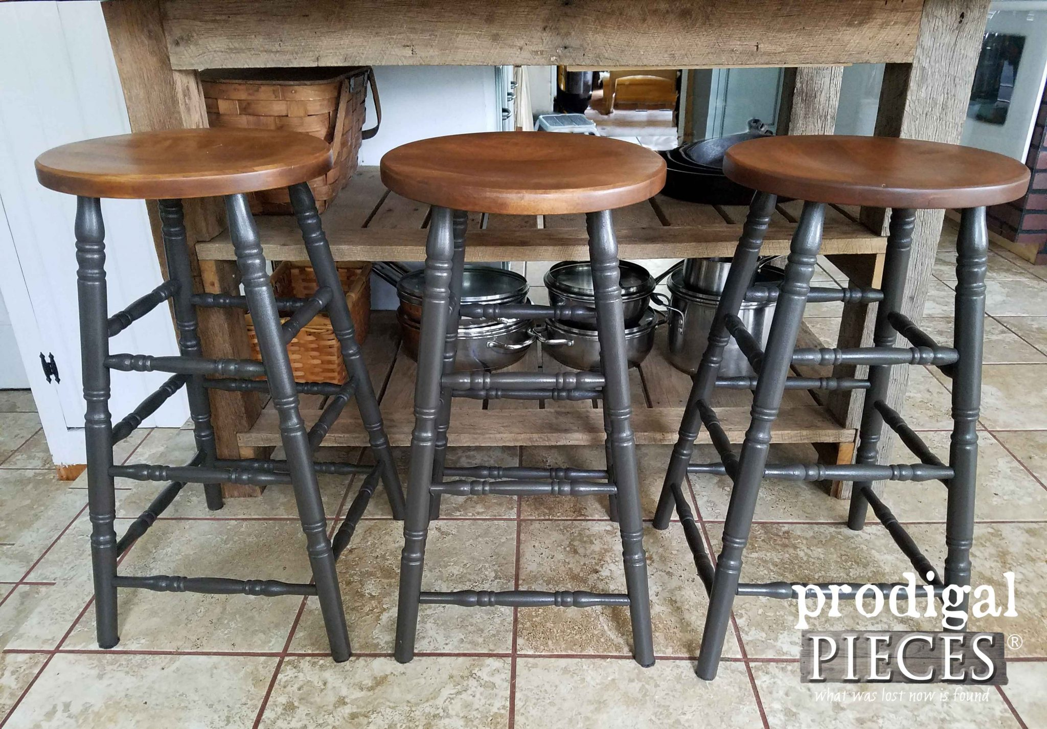 Industrial Style Farmhouse Bar Stools by Prodigal Pieces | prodigalpieces.com