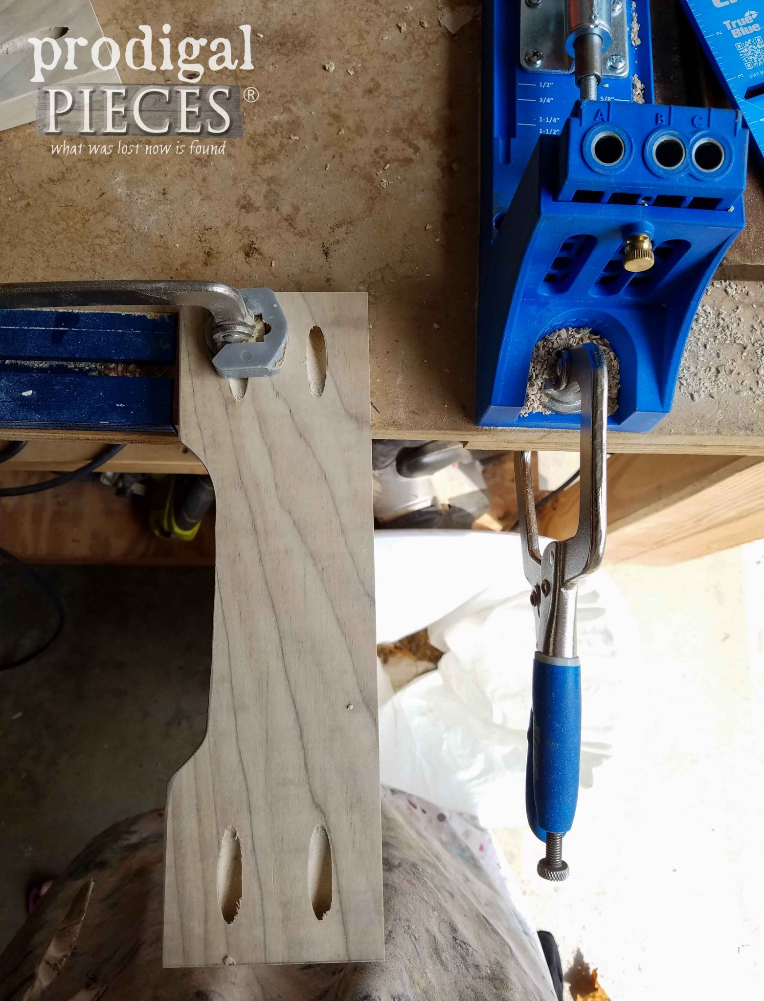 Kreg JIg Pocket Holes and Clamp Trak for Woodworking via Prodigal Pieces | prodigalpieces.com